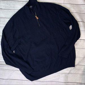 Jack Nichlaus Vintage Marino Wool 1/4 Zip Sweater